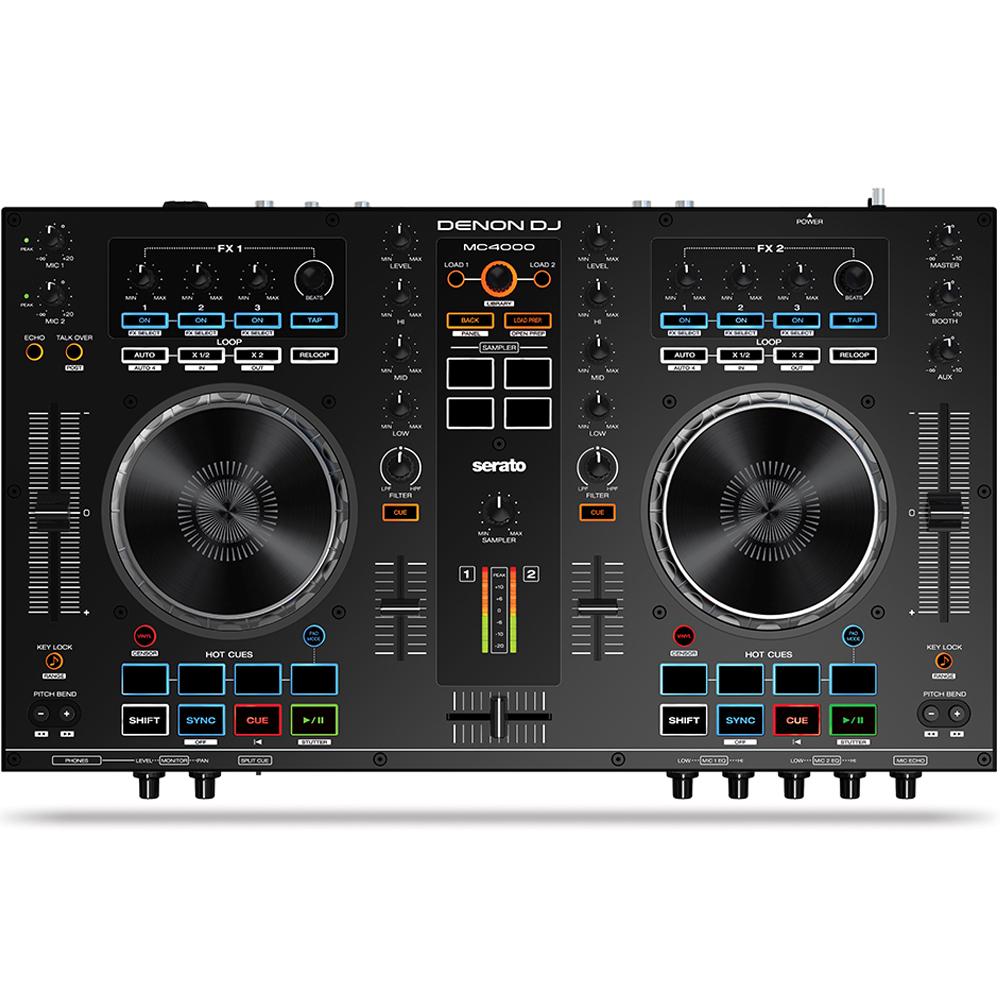 Denon MC4000 Professional 2 Channel DJ Controller Inc  Serato DJ Lite